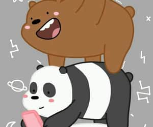 brown bear, we bare bears, and panda image