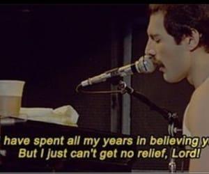 band, Freddie Mercury, and lyric image