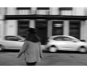 aesthetic, black and white, and blur image