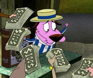 money, cartoon, and courage the cowardly dog image