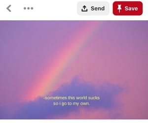 aesthetic, rainbow, and clouds image