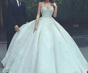 wedding, dress, and princess image