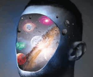 art, gif, and planets image