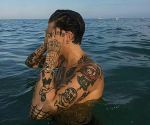 tattoo, boy, and ocean image