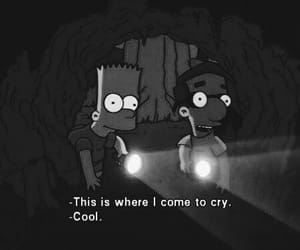 cry, simpsons, and sad image