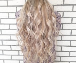 accessories, blond hair, and curly hair image