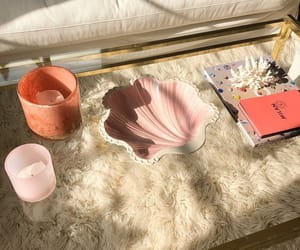 apartment, baby pink, and candles image