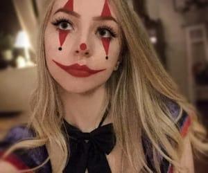 clown, Halloween, and girl clown image