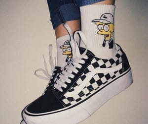vans, shoes, and socks image
