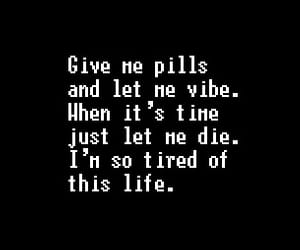 depression, pills, and quote image