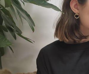 hair, girl, and plants image