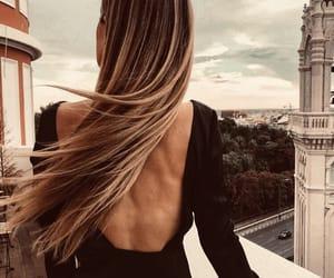 back, bare back, and black dress image