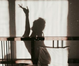 girl, shadow, and morning image