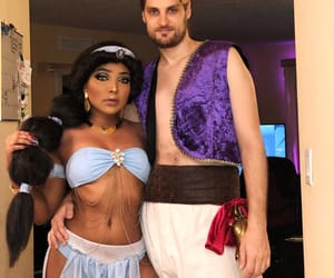 aladdin, costume, and couple image