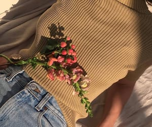 aesthetic, flowers, and fashion image