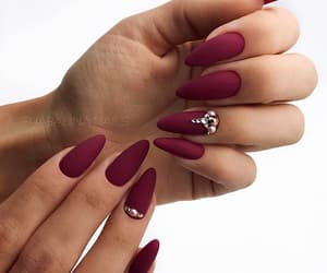 nails, manicure, and matte image
