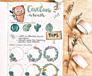 cactus, doodle, and journaling image