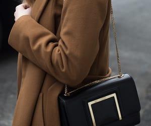 coat, bag, and fashion image
