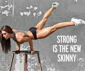 strong, skinny, and fitness image
