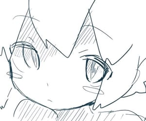 anime, blush, and doodle image