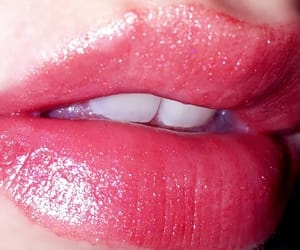 glitter, glossy, and lip image