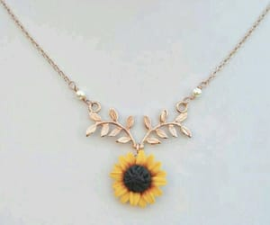 sunflower, necklace, and accessories image