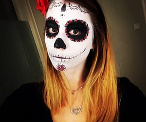day of the dead, la catrina, and make up image