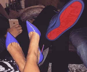 couple, shoes, and blue image