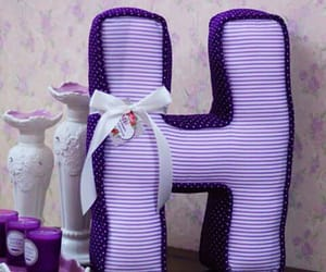 letter h and purple letter h image