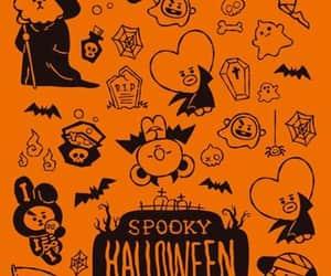 Halloween, wallpaper, and bt21 image