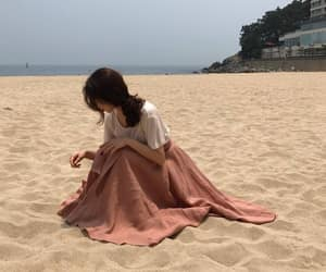 beach, aesthetic, and korean image