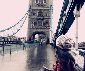 girl, london, and bridge image