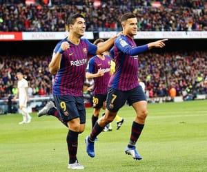 Barcelona, five, and football image
