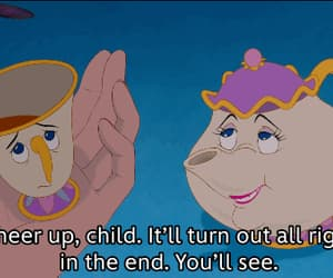 animation, beauty and the beast, and quote image