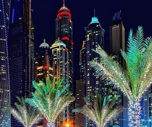 city lights, cityscape, and Dubai image