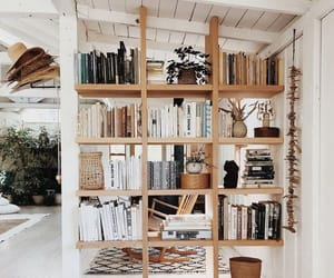 bookcase, books, and home image