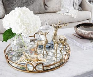 flowers, gold, and home decor image