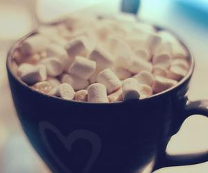 marshmallow, hot chocolate, and cup image