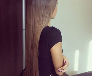 brown hair, hairstyle, and long hair image
