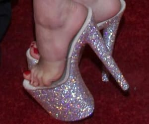 heels, glitter, and high heels image