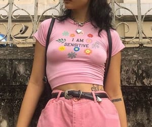 pink, girl, and fashion image