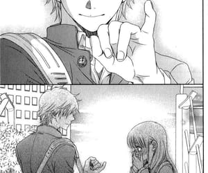 blackandwhite, shoujo, and manga couple image