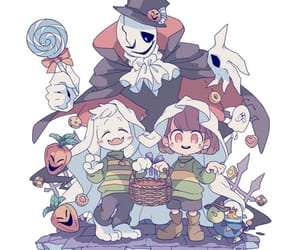 chara, gaster, and undertale image