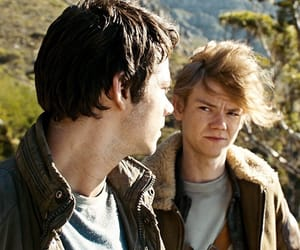 the maze runner, thomas brodie sangster, and dylan o'brien image