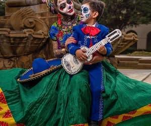 calavera, costume, and dia de muertos image