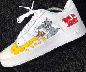 shoes, sneakers, and cartoon image