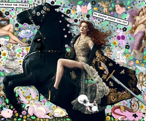 art, Collage, and florence and the machine image
