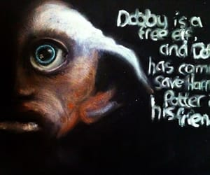 deathly hallows, harry potter, and dobby image