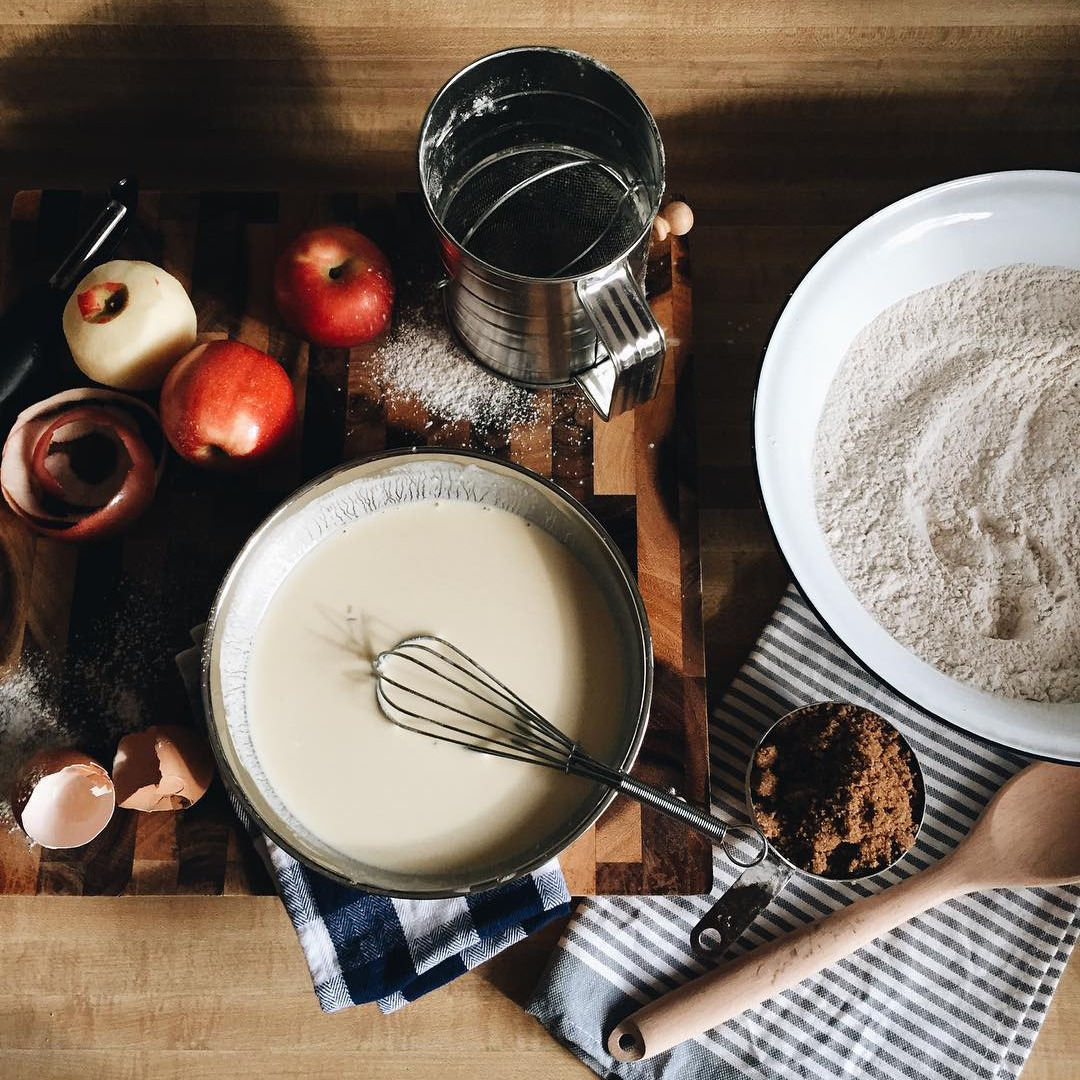 apple, baking, and food image
