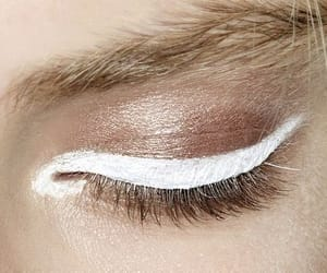 makeup, white, and eye image